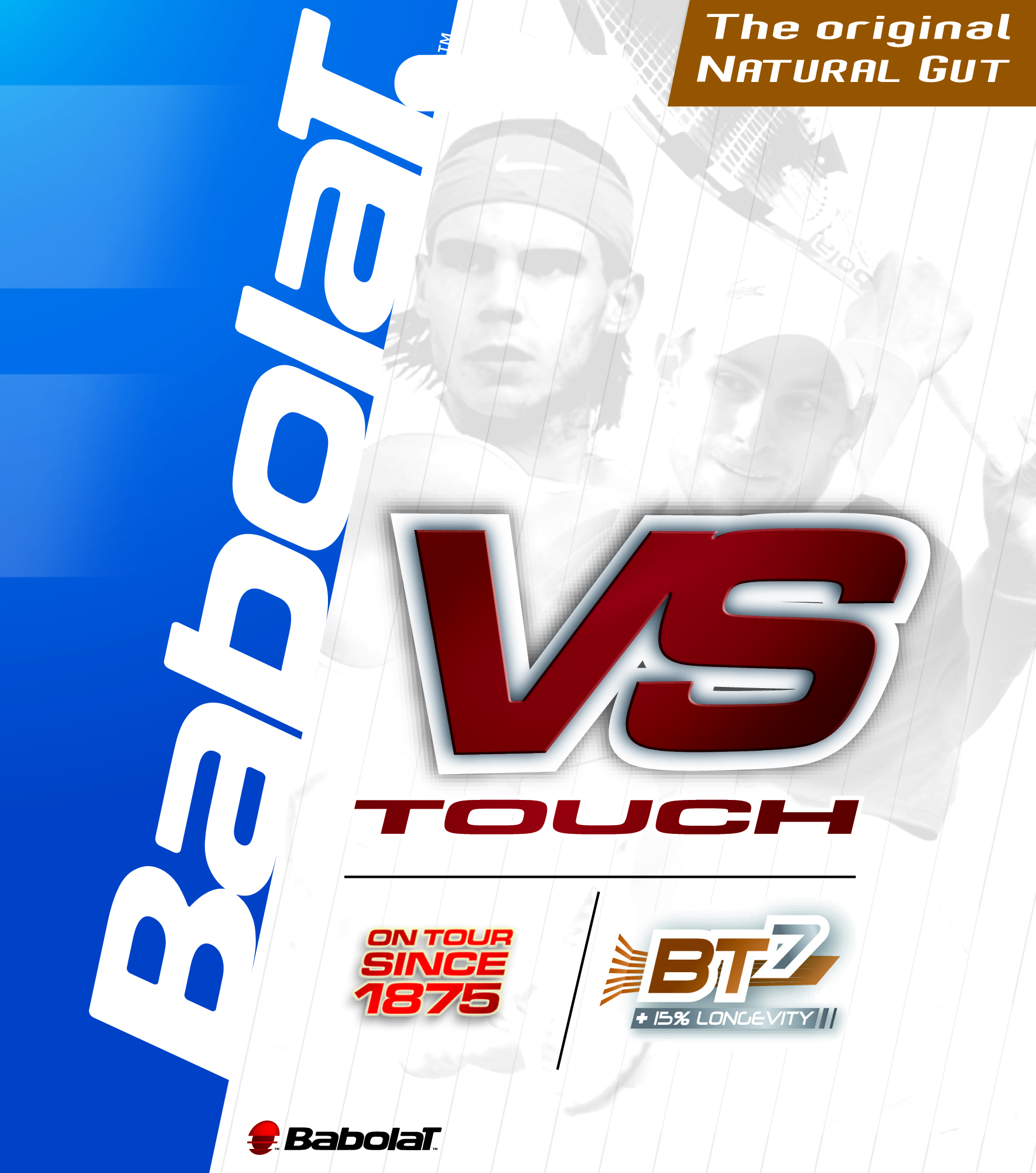Natural Babolat Touch VS 15L Tennis String Authorized Dealer