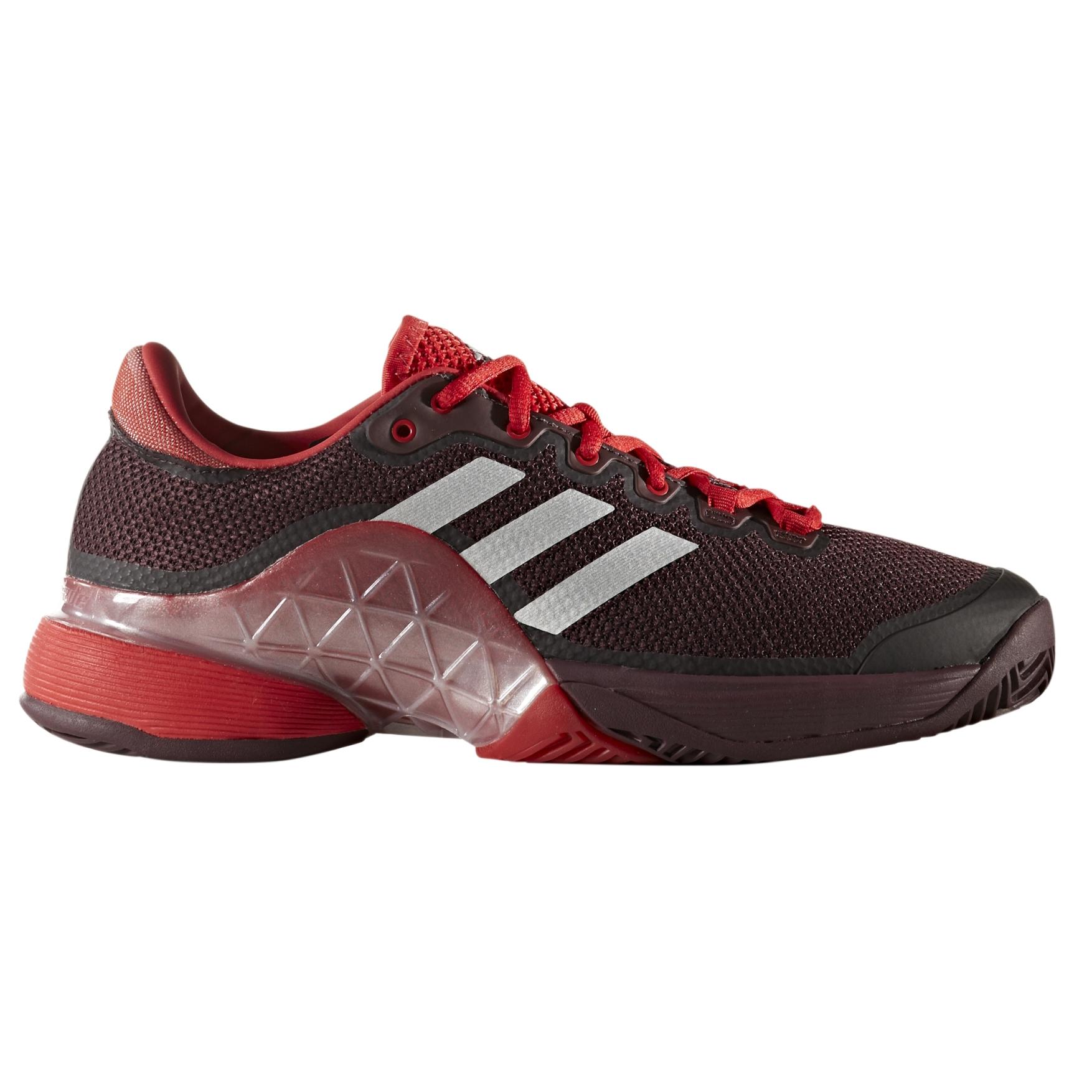 adidas Barricade 2017 Men's Tennis Shoe - Burgundy