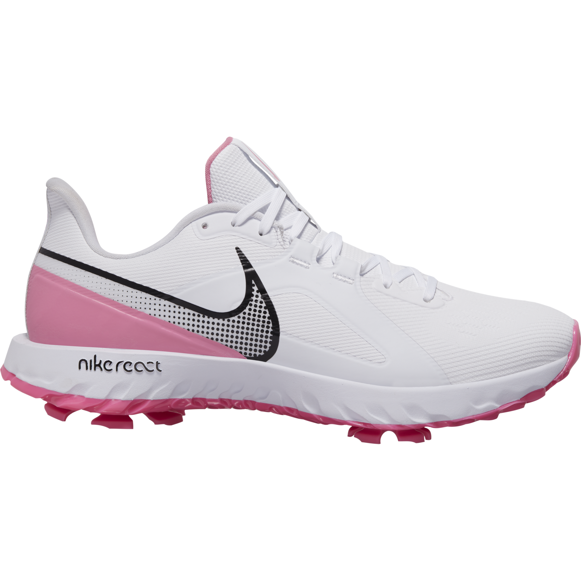React Infinity Pro Men's Golf Shoe - White/Pink