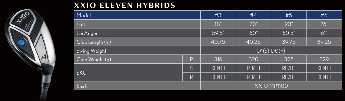 XXIO Eleven Mens Hybrid Tech Specs