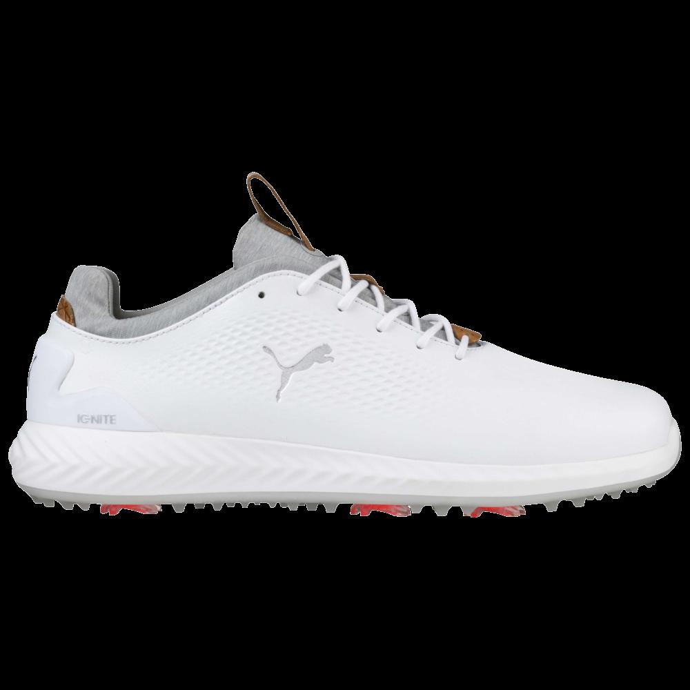 Puma Ignite Pwradapt Leather Men S Golf Shoe White Pga Tour Superstore