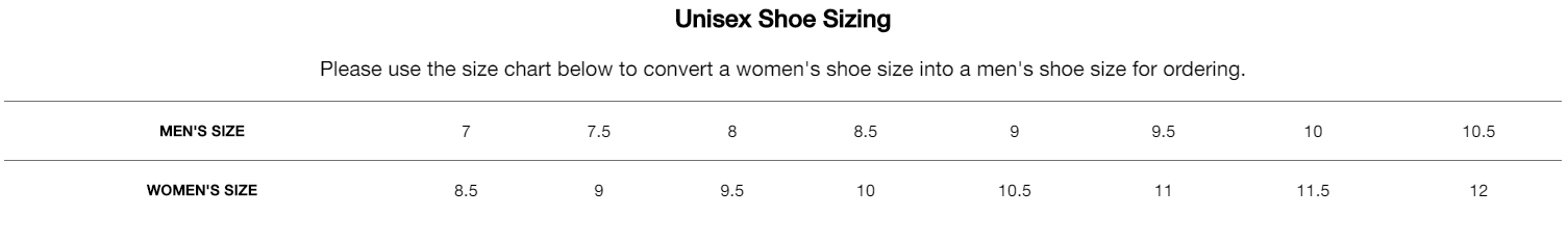 gfore unisex size guide