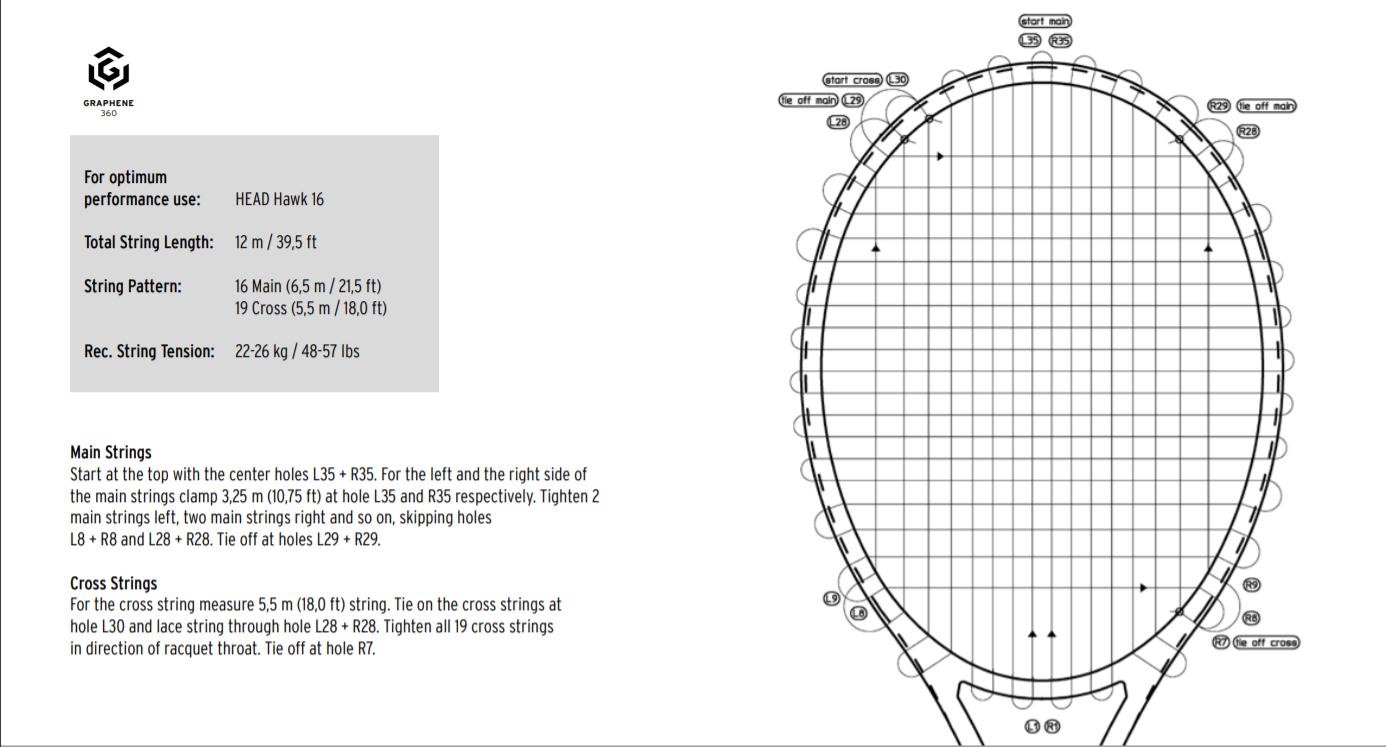 Graphene 360 Radical MP Racquet Stringing Instructions