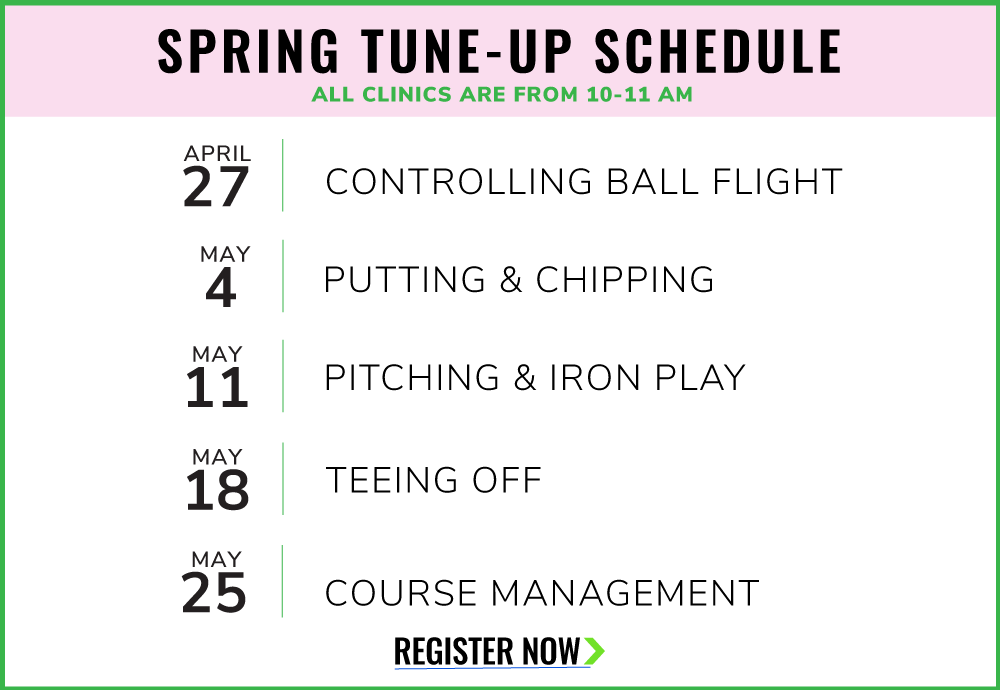 Spring Tune-Up Event Schedule